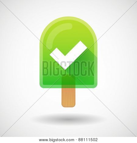 Ice Cream Icon With A Check Mark