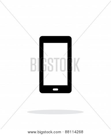 Phone screen simple icon on white background.