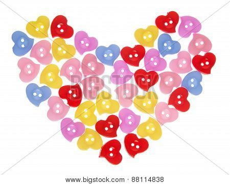 Colorful Buttons Heart