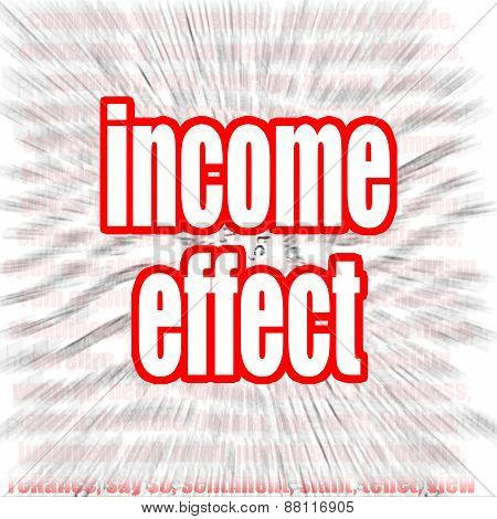 Income Effect Word