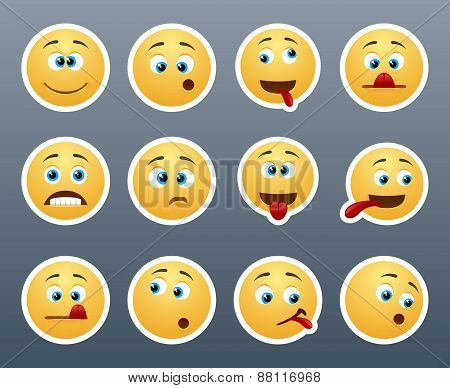 Funny Emoticons Grimace