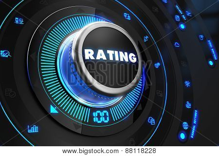 Rating Controller on Black Control Console.