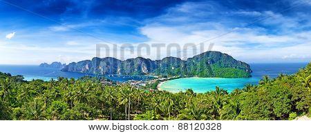 Panorama Of Phi-phi Island, Krabi Province, Thailand