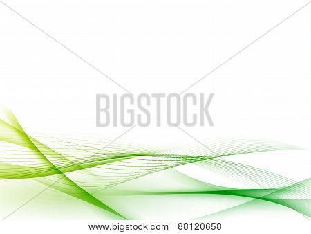 Ecological Green Abstract Modern Swoosh Wave Certificate