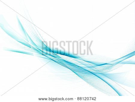 Hi-tech Futuristic Abstract Modern Blue Swoosh Background