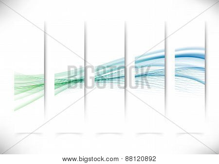 Vertical Abstract Swoosh Line Flyers Collection