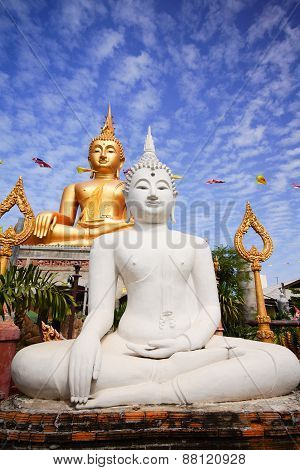 Gold And White Buddha Image