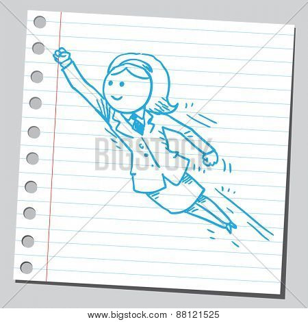Businesswoman flying