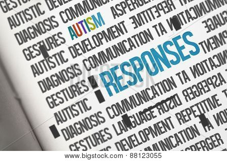 The word responses against open book