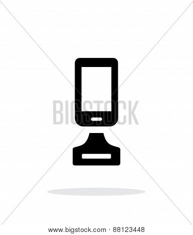 Best phone simple icon on white background.
