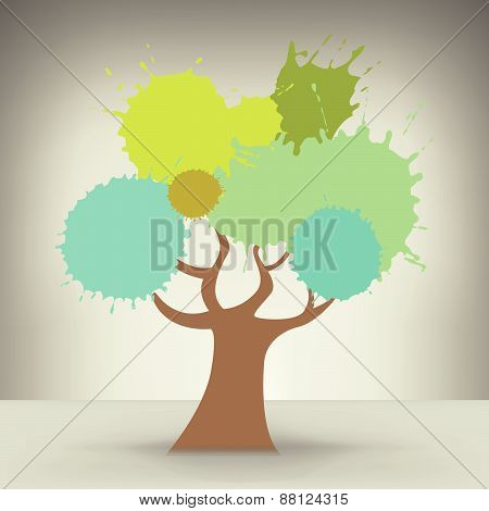 Creative Colorful Abstract Tree