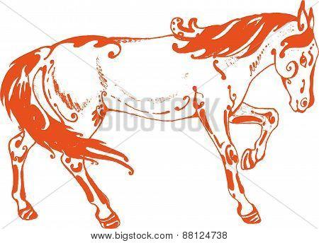 Rufous horse