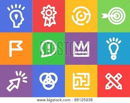 creative icons vector set