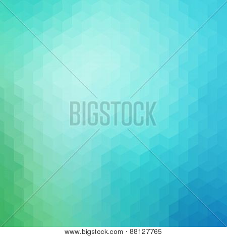 Blue Green Geometric Pattern Background