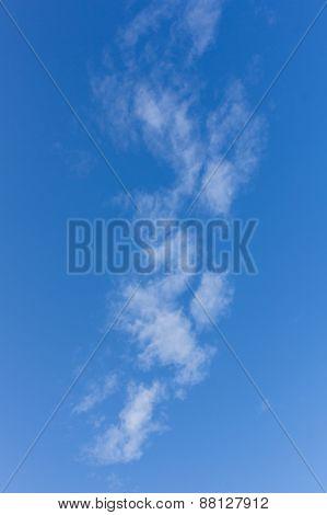 Beauty Cloud In Blue Sky