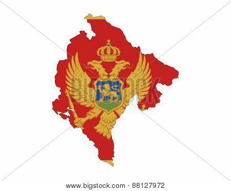 Montenegro Flag Map