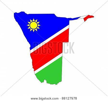 Namibia Flag Map