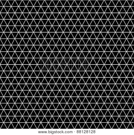 Seamless geometric latticed texture. Hexagons, diamonds and triangles pattern. Vector art.