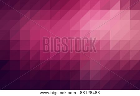 Magenta Colored Triangular Pattern Background