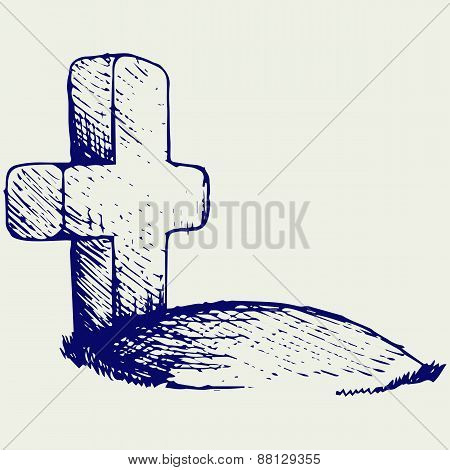 Grave with a cross