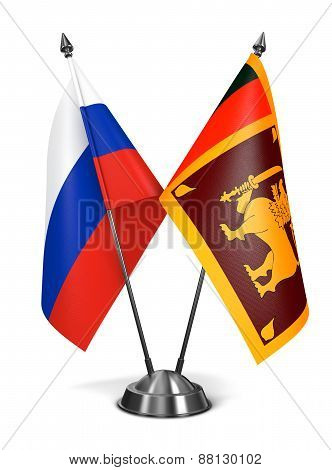 Russia and Sri Lanka - Miniature Flags.
