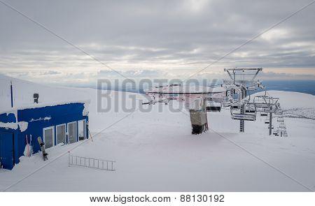 Ski lift top station