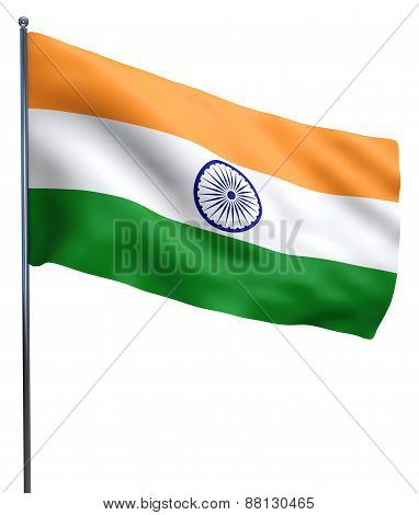 Indian Flag Isolated