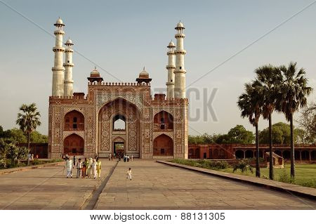 Tomb Of Akbar The Great In Agra, India