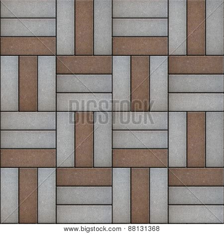 Paving  Geometric Shapes Consisting of a Rectangular Form.
