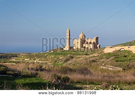 National Shrine of the Blessed Virgin of Ta' Pinu near the village of Hhard on Malta.