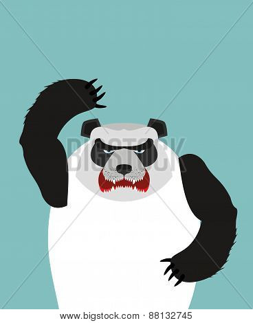 Bad bears. Wild angry animals. Villains. Vector illustration