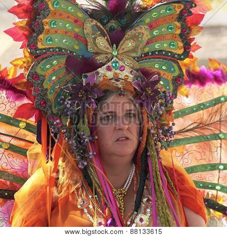 A Butterfly Lady At The Arizona Renaissance Festival