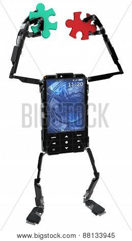 Phone Robot, Puzzle Pieces