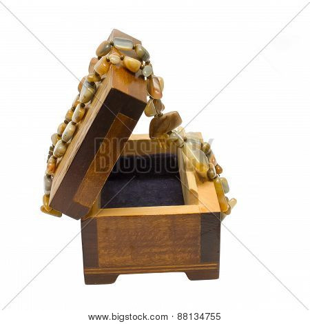 Wooden Box With Necklace