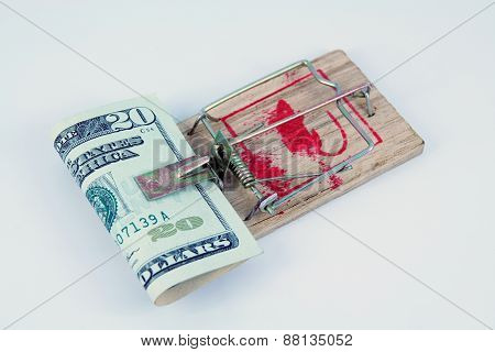 Dollar in a mousetrap