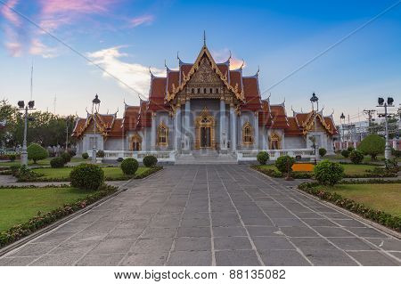 Wat Benjamaborphit or Marble Temple, Traditional Thai architecture, Bangkok