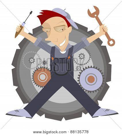 Mechanic Illustration