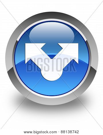 Share Icon Glossy Blue Round Button
