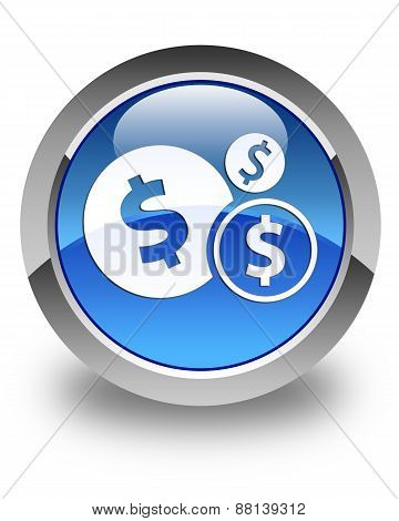 Finances (dollar Sign) Icon Glossy Blue Round Button