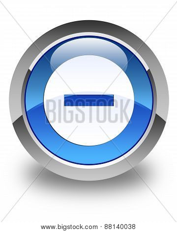 Cancel Icon Glossy Blue Round Button