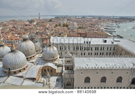 Cupolas Of  The Basilica Of Saint Mark And The Doge Palace