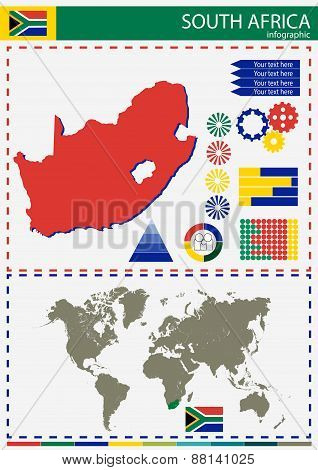 Vector South Africa Illustration Country Nation National Culture Concept
