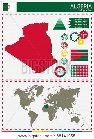 Vector Algeria Illustration Country Nation National Culture Concept