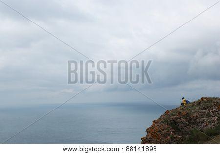 Seascape Stormy Sky