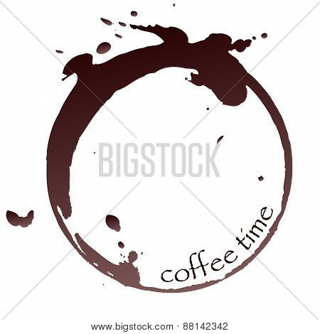 Vector Coffee Stain