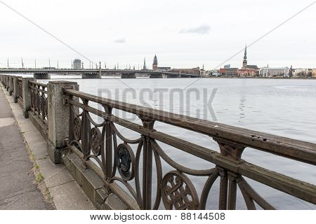 Panoramic Image Of Riga Shoreline