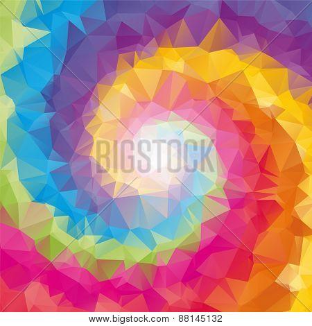 Triangular Tornado Color Background