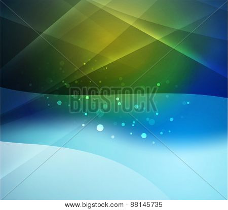 Color blur yellow and light, waves and lines. Abstract background