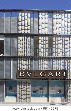 Bulgari Shop In The Famous Rodeo Drive Street