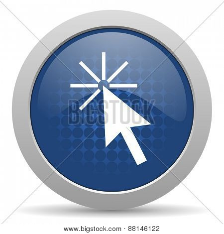click here blue glossy web icon